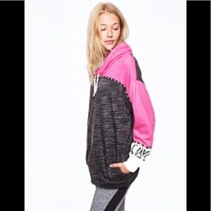 NWT VS PINK Color Block Cowl Neck Pullover